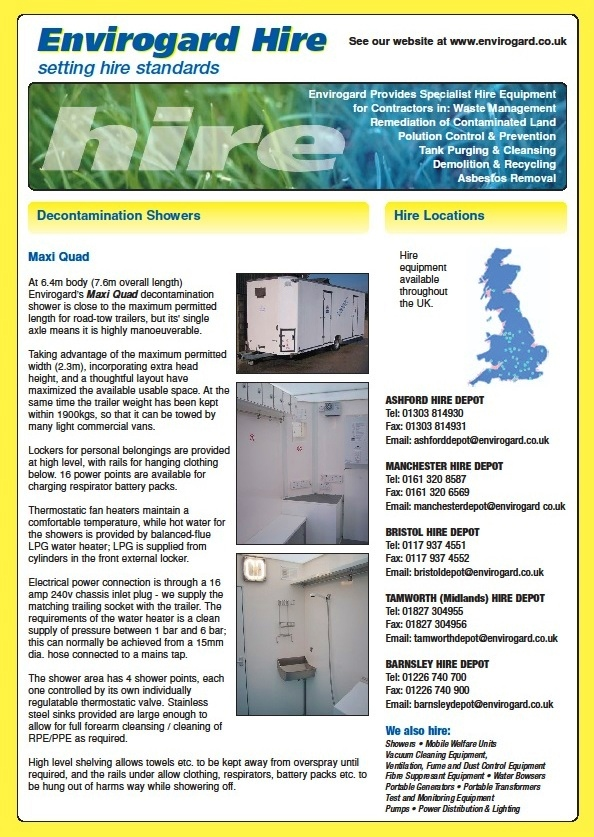 Hire Quad Shower Decontamination Trailer Unit